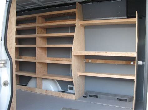 dodge sprinter shelfs wood shelving storage