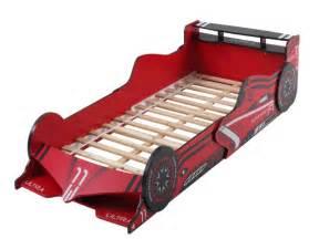 lit voiture 90x190 cm avec leds formule 1 mdf