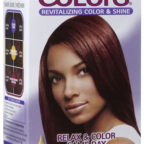 relaxed color dark and lovely semi permanent hair color chart reviving