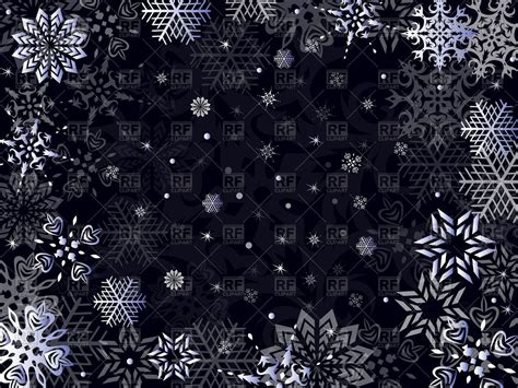 background clipart snowflakes on black background 46972 backgrounds