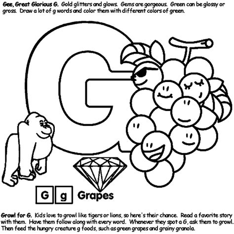 alphabet coloring pages g alphabet g crayola com au