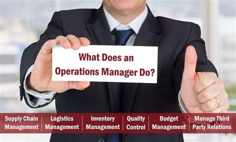 what does an operations manager do