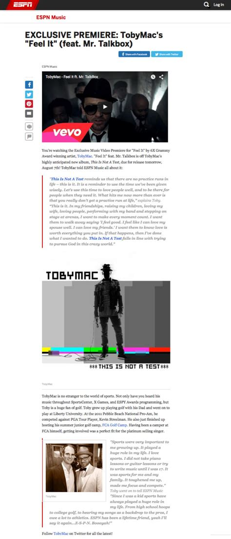 download mp3 tobymac feel it jfh news espn online unveils exclusive worldwide premiere