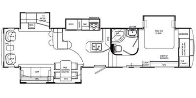holiday rambler fifth wheel floor plans 2009 holiday rambler alumascape suite fifth wheel series m