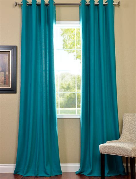 Turquoise Grommet Curtains Turquoise Grommet Cotenza Curtain Contemporary Curtains San Interior Designs