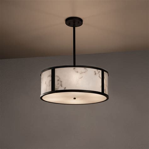 Drop Ceiling Light Fixtures Justice Design Fal 9541 Tribeca Lumenaria Drum Drop Ceiling Light Fixture Jus Fal 9541