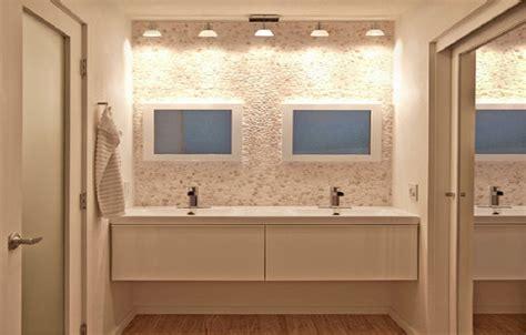 small bathroom backsplash amazing small bathroom makeovers with creama river rock mosaic backsplash small
