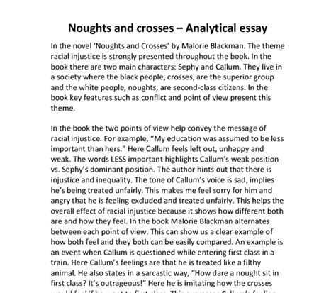 themes in the book noughts and crosses noughts and crosses by malorie blackman the theme of