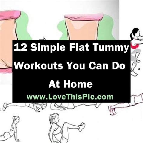 here are 12 simple and effective flat tummy workouts you