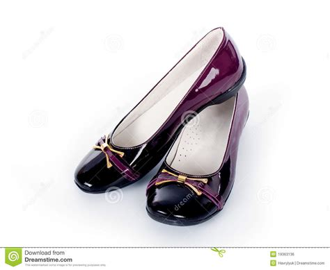 s patent leather shoes royalty free stock image