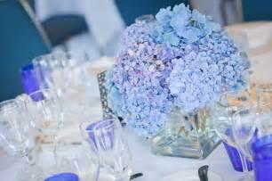 blue hydrangea wedding centerpieces blue hydrangea centerpiece volunteer brunch