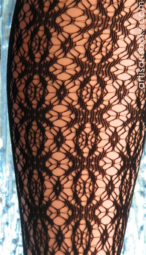 patterned lace tights black patterned tights with crochet lace