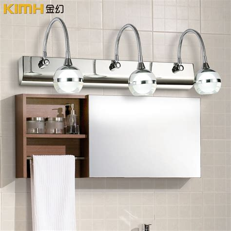 Waterproof Bathroom Lights Led Three Bathroom Mirror Light Eye Wall L L Waterproof Bathroom Mirror Makeup In Table