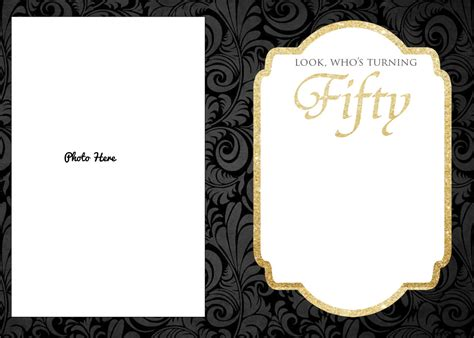 50th birthday card template free printable 50th birthday invitations template drevio