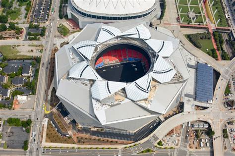atlanta s soon to be open mercedes stadium roof