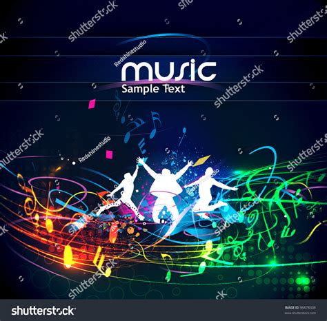 event layout vector abstract music dance background music event stock vector