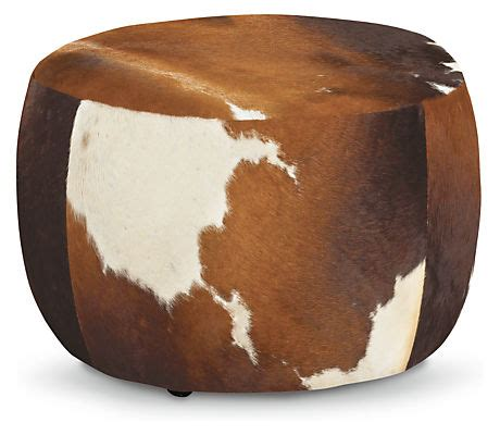 cow hide ottomans lind modern cowhide ottomans modern fabric
