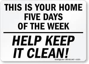 Sliding Desk Home 5 Days Please Keep Clean Signs Housekeeping Clean