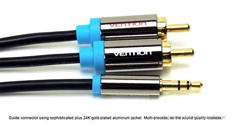 R06 2m Blue Vention Kabel Aux Audio 2 X Rca To 5 96 vention p550ac 2 rca to 3 5mm audio aux cable 200cm authentic to for
