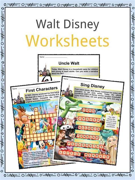 walt disney biography for students walt disney facts worksheets biography life death for