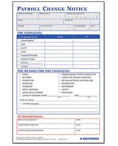 payroll change notice form template payroll change notice size amsterdam printing