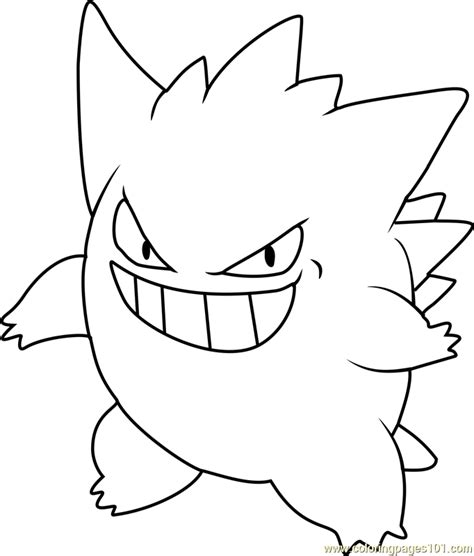 pokemon coloring pages gengar gengar pokemon coloring page free pok 233 mon coloring pages