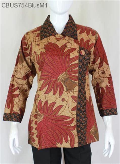 kemeja batik pari an sarimbit blus pekalongan motif pari blus lengan panjang