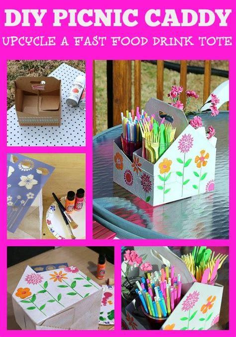 diy craft caddy diy picnic caddy and swing into craft supplies picnics and