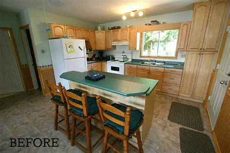 before after chania s cottage kitchen in ontario