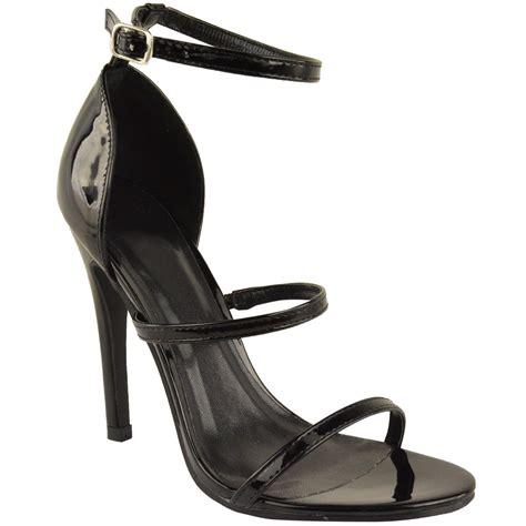 strappy sandals heels womens ankle strappy high heels stilettos