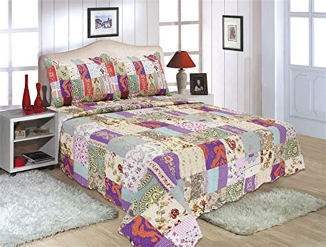 all for you 3 reversible bedspread coverlet quilt