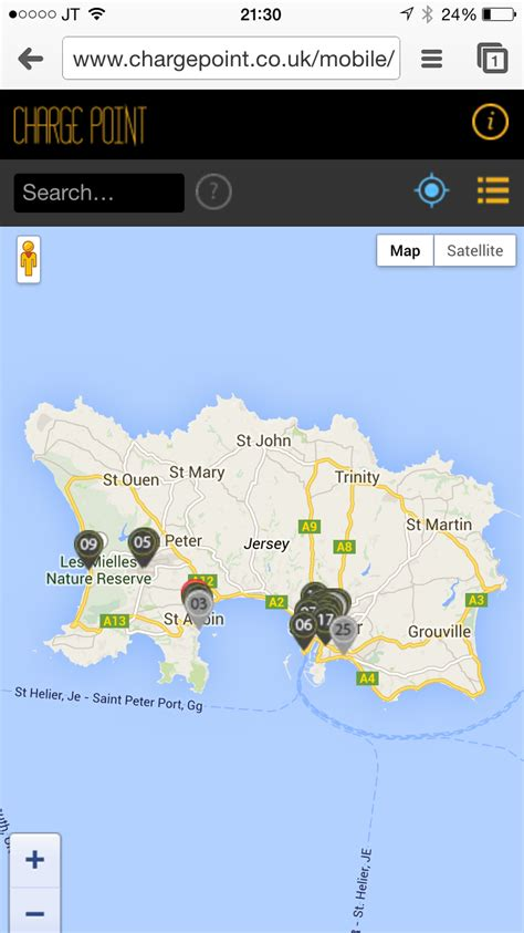 Find Uk Free No Charge Find Charge Points In Jersey With Our Mobile App