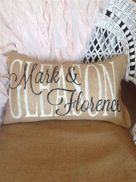 personalised wedding pillows personalized wedding pillow family name pillow custom gift