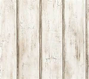 Wainscoting Pre Made Panels Distressed White Beadboard Faux Wood Wallpaper Aged Brown