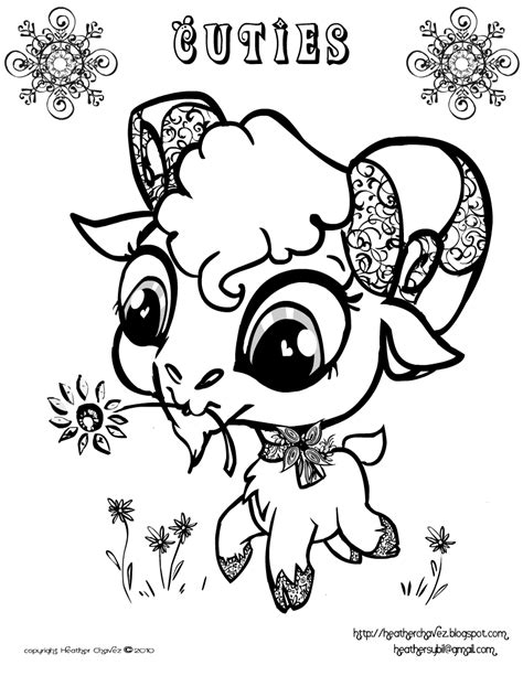 cute goat coloring pages heather chavez free goat coloring page