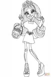 monster high skelita calaveras coloring pages monster high skelita calaveras coloring page free