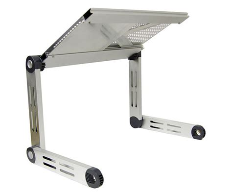 Multifunctional Aluminium Alloy Portable Laptop Table Mouse Desk Fan folding laptop table with mouse pad