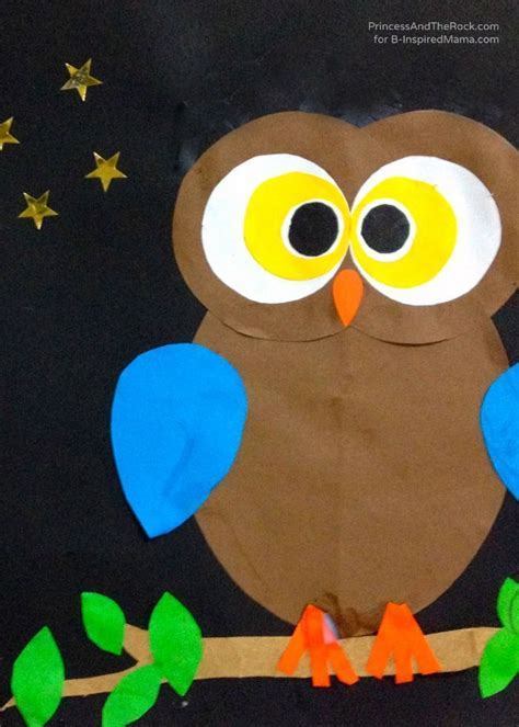 Paper Owls Crafts - a shape ly owl craft for owl crafts owl and craft