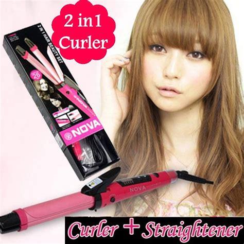 Catokan Pelurus Rambut 2in1 Hair Straightener Curly Big 5 Level Panas ratu hair catokan 2 in 1
