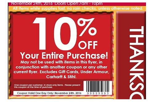 coupons black friday 2018
