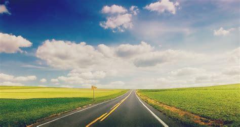 wallpaper green road nature landscape grass green road track plate sky cloud