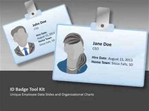 powerpoint id card template id badge tool kit a animated powerpoint template from