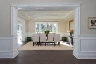 traditional dining room with hardwood floors amp wainscoting dining room with custom wainscoting