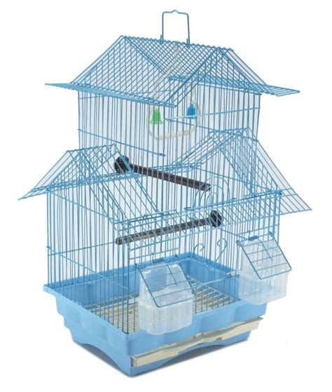 bird cage swing bird cage house style blue metal swing perch feeders