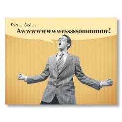you are awesome humorous thank you cards