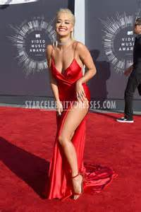 rita ora prom dress mtv video music awards 2014 spaghetti
