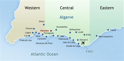 Porches Algarve Map by Porches Villas With Pools To Rent Special Offers Available