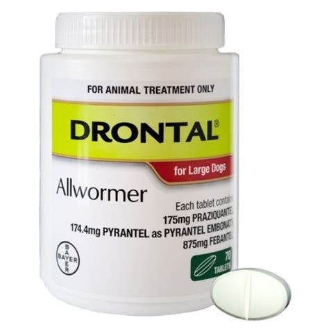 Drontal For drontal allwormer for dogs 35kg tablet bayer