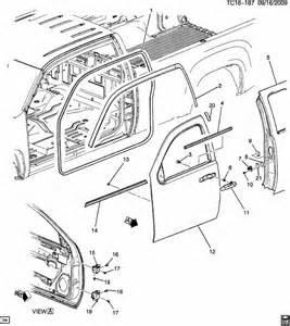 C Chevrolet Parts 2008 Chevrolet Silverado Door Hardware Side Front Part 1