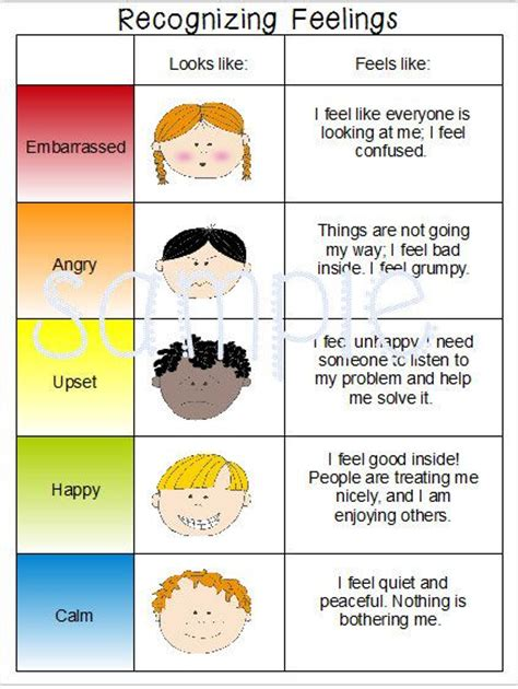 emotions cards from teacher treasures mary s freebie page emotions feelings chart special needs autism speech delay